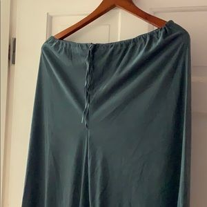 Green suedes drawstring pants